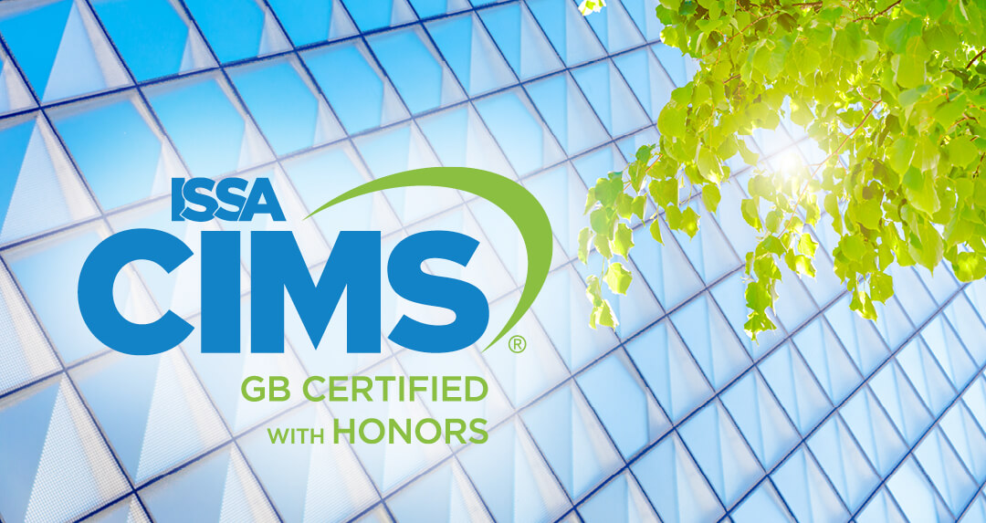 Kimco has earned the ISSA CIMS-GB Certified with Honors (logo)